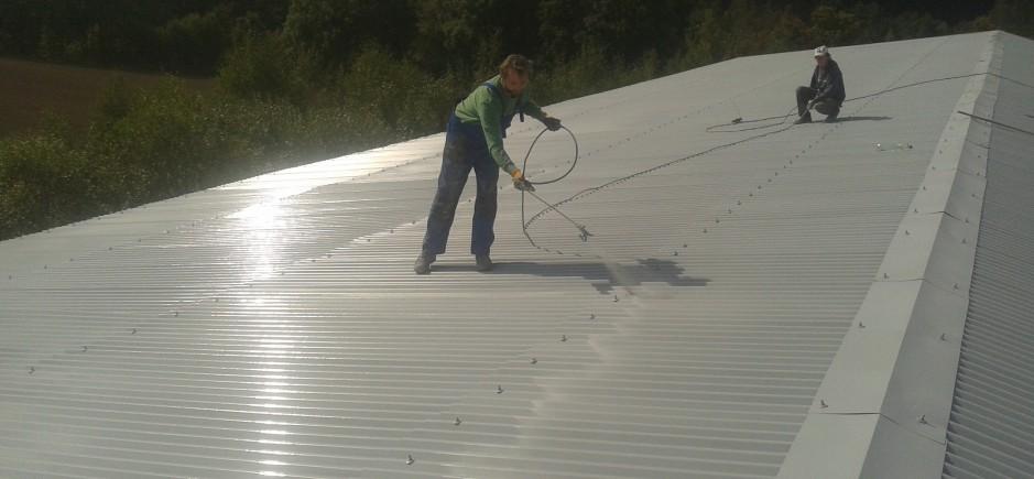 Natěračské opravy střešního pláště plechové střechy-83439253af